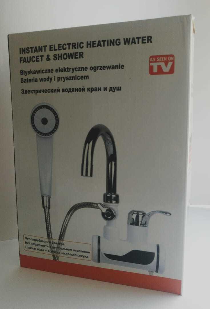 Проточный кран-водонагреватель с душем Instant electric heating water faucet & shower
