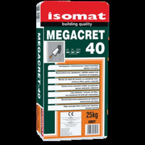 Isomat Megacret 40/Изомат Мегакрет 40 высокопрочный, армированный фиброй ремонтный раствор