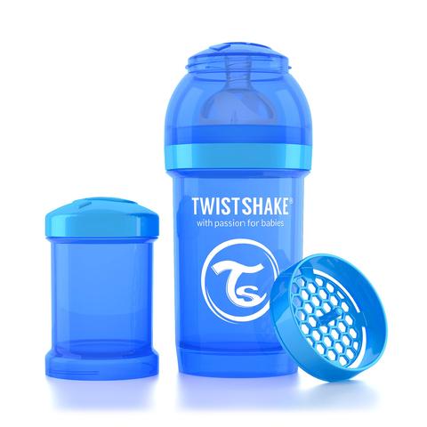 Twistshake бутылочка антиколиковая 180 мл. Синяя (Cookiecrumb)