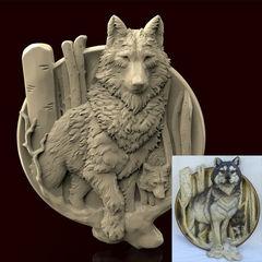 Силиконовый молд  Собака    (медальон) № 0464