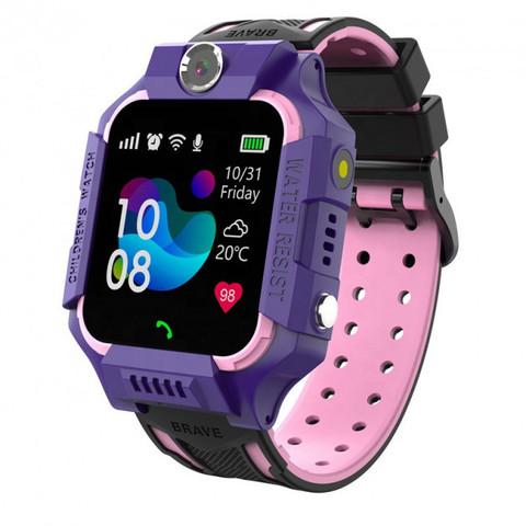 SUNROZ / Умные часы детские E15 | фиолетовые влагозащищенные