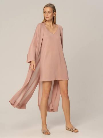 Женское платье цвета нюд из вискозы - фото 3