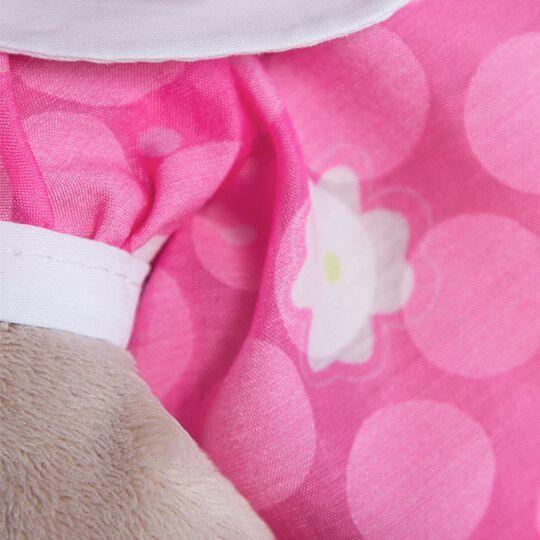 Зайка Ми в розовом платье с белым воротничком