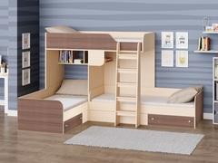 Трехместная кровать