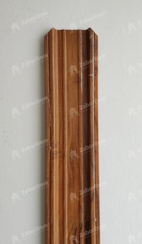 Евроштакетник металлический 85 мм Орех 3D П - образный двусторонний 0.5 мм