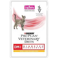 Пауч для кошек, Purina Pro Plan Veterinary Diets DM, при диабете курицей