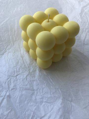 Свеча КУБ желтый 6х6