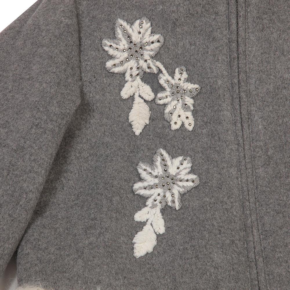 Пальто шерстяное для девочки Miss Blumarine
