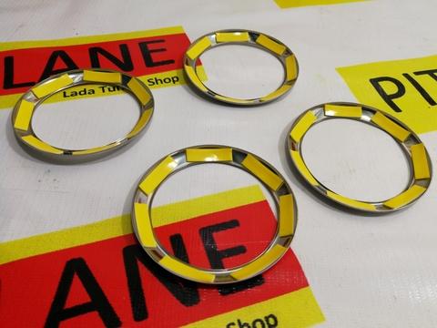 Накладки  на дефлекторы отопителя (хромированные) Лада Гранта / Калина-2