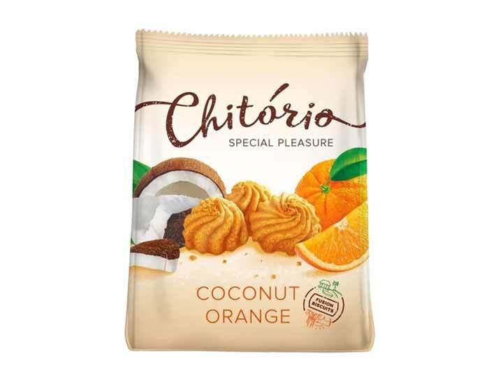 Печенье сдобное Chitorio с кокосом и апельсином, 200 г