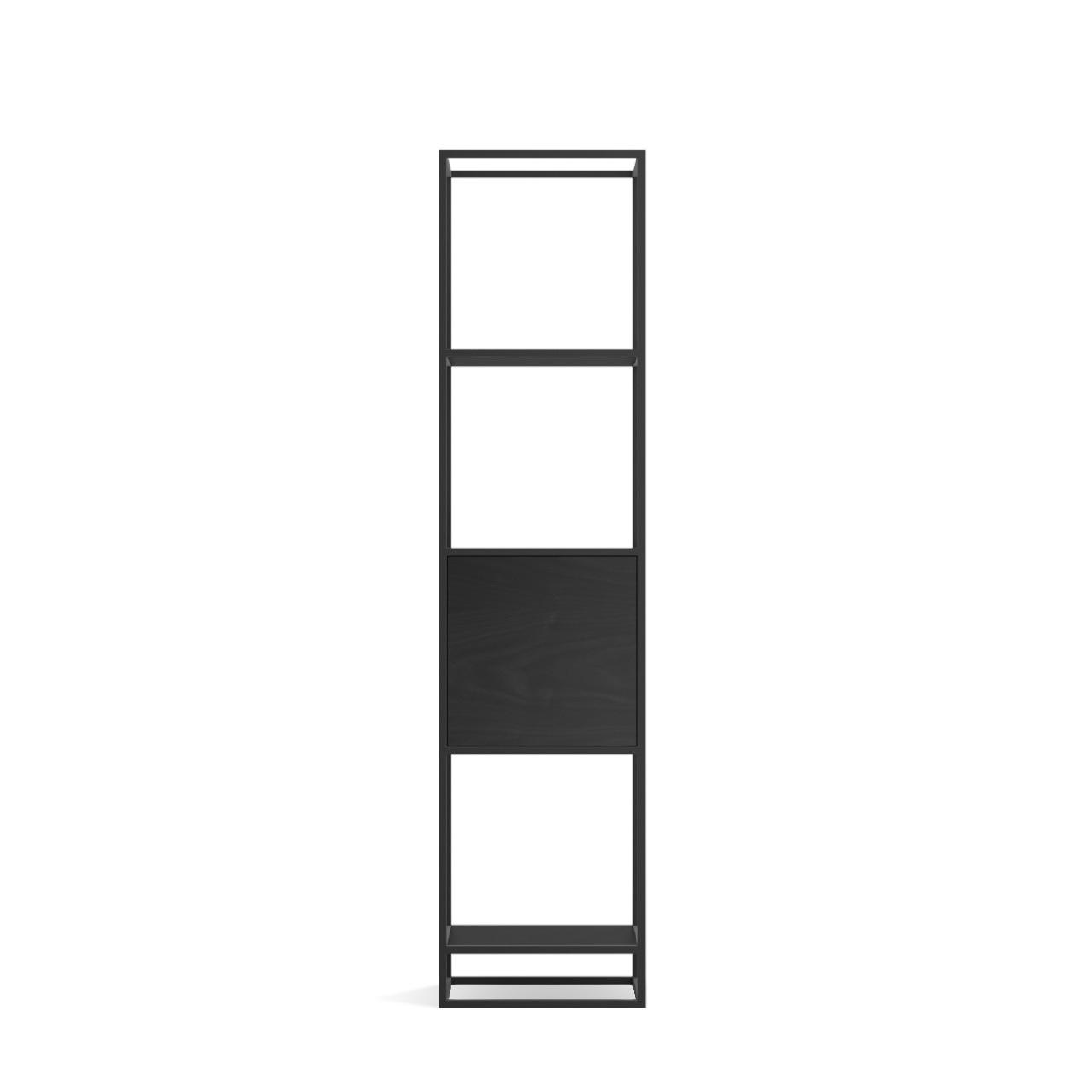 Стеллаж Intelligent design Kvadra 1, черный - вид 1
