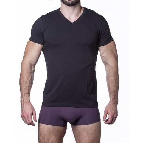 Мужская футболка черная Sergio Dallini SDT751-2