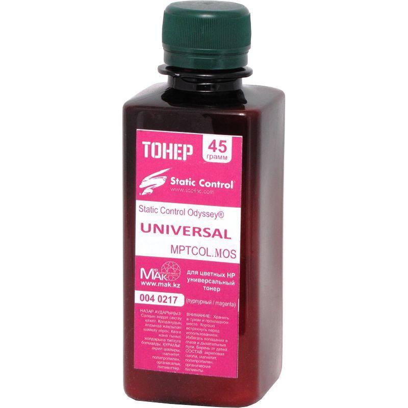 Тонер цветной Static Control© Odyssey® MPTCOL.MAOS.0045 пурпурный (magenta), 45г, расфасовано компанией МАК из сырья Static Control MPTCOL.