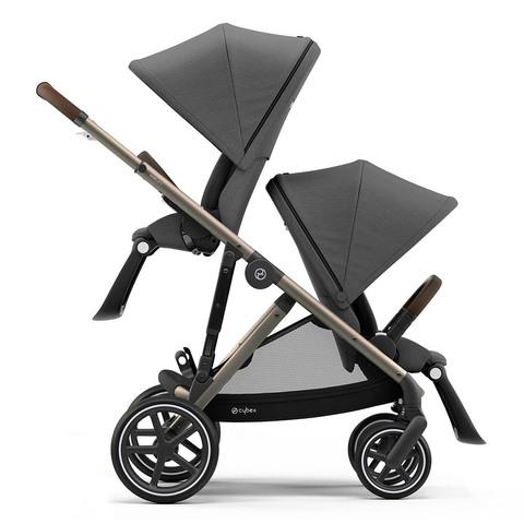 Прогулочная коляска для двойни Cybex Gazelle S TPE Soho Grey