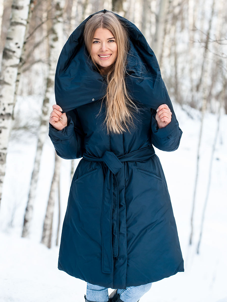 Joutsen пуховик Sarina темно-синий