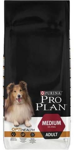 18 кг. PURINA PRO PLAN Сухой корм для взрослых собак средних пород с курицей и Medium Adult Opti Health