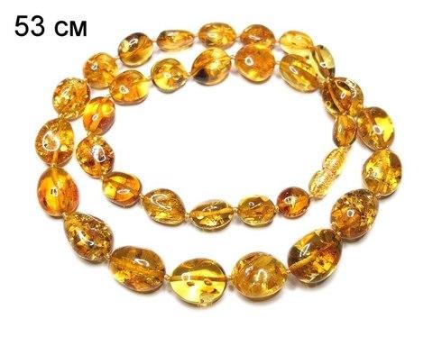 бусы из янтаря орешки золотистые