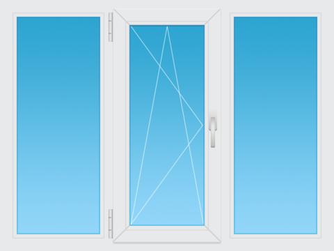 3-х створчатое окно
