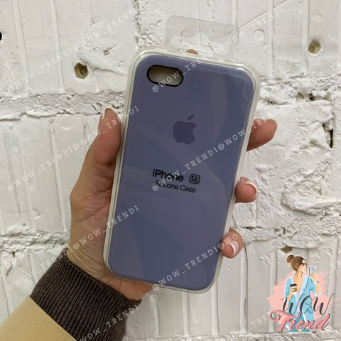 Чехол iPhone 5/5s/SE Silicone Case /lavender grey/ серая лаванда 1:1