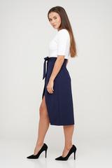 Синяя юбка ассиметрик