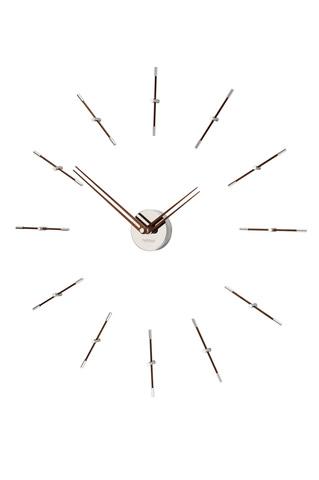 Часы Mini Merlin N 12 хром-орех
