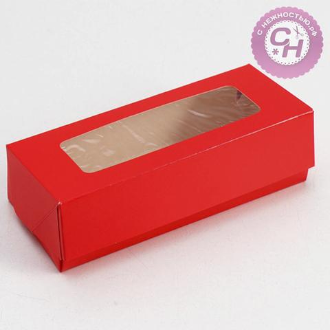 Коробка прямоугольная самосборная с окном, 17*7*4 см, 1 шт.