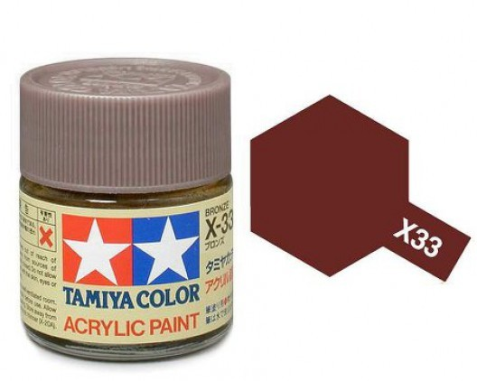 Tamiya Акрил X-33 Краска Tamiya, Бронзовый (Bronze), акрил 10мл import_files_b9_b9307ef25a8411e4bc9550465d8a474f_e3fbec2e5b5511e4b26b002643f9dbb0.jpg