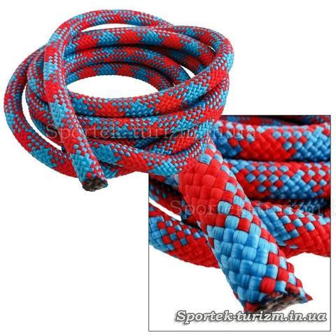 Скакалка для художественной гимнастики сине-красная (2,9 м)