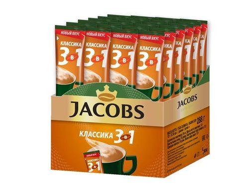 Кофе растворимый Jacobs 3 в 1 Классика, 24 стика
