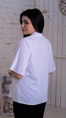 Хільда. Ніжна жіноча блуза великих розмірів. Білий