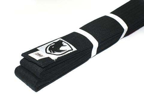 Пояс RHINO для кимоно карате. Цвет чёрный. Длина 2,80 м. Материал:  хлопок.