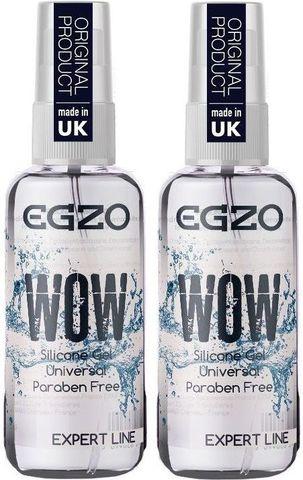 Набор универсальных смазок на силиконовой основе Egzo Wow Expert Line - 2 х 50 мл.