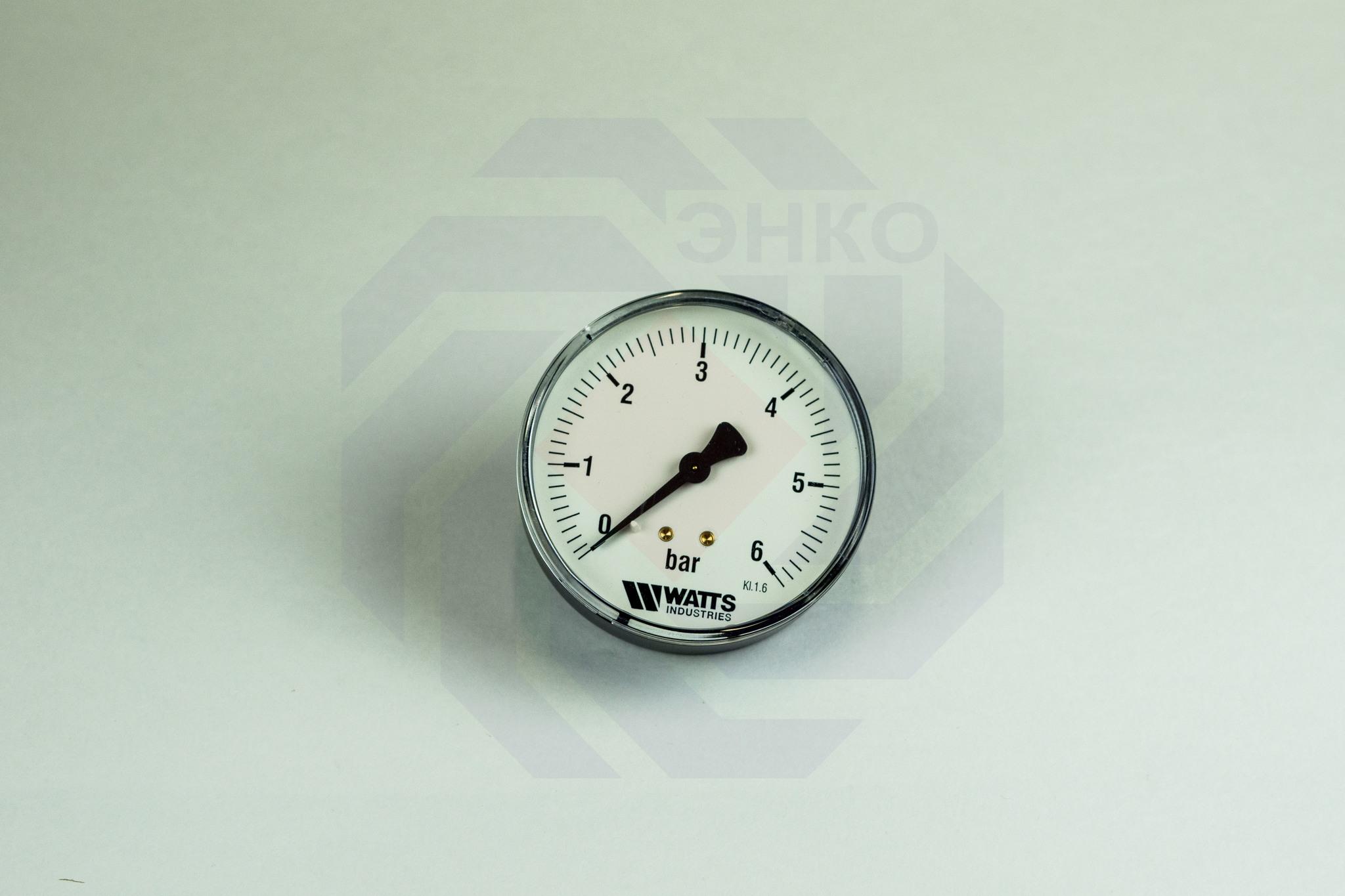 Манометр аксиальный WATTS MDA 80/6 (F+R150) 0-6 бар 80 мм ¼