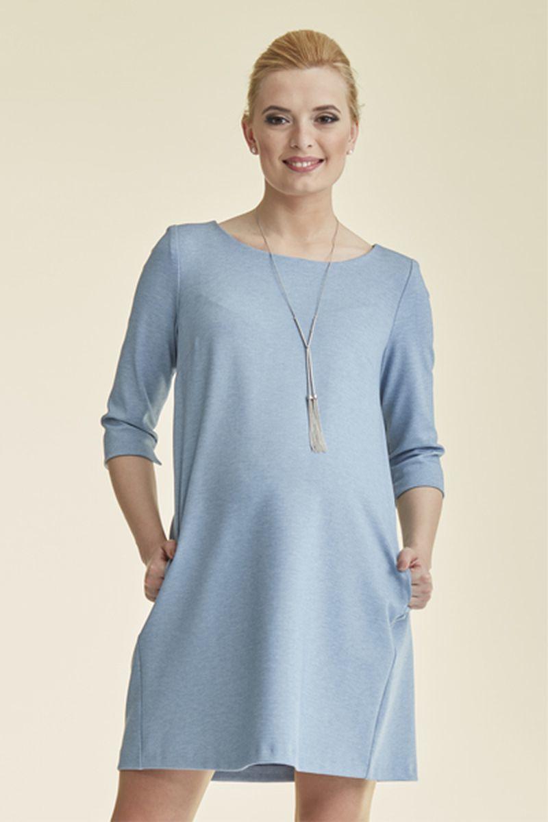 Фото платье для беременных Mama i Ja от магазина СкороМама, серо-голубой, размеры.