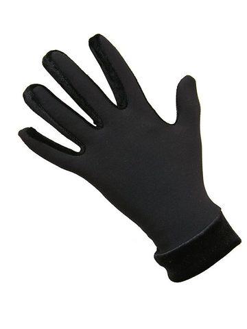 Термоперчатки с бархатом (черные)