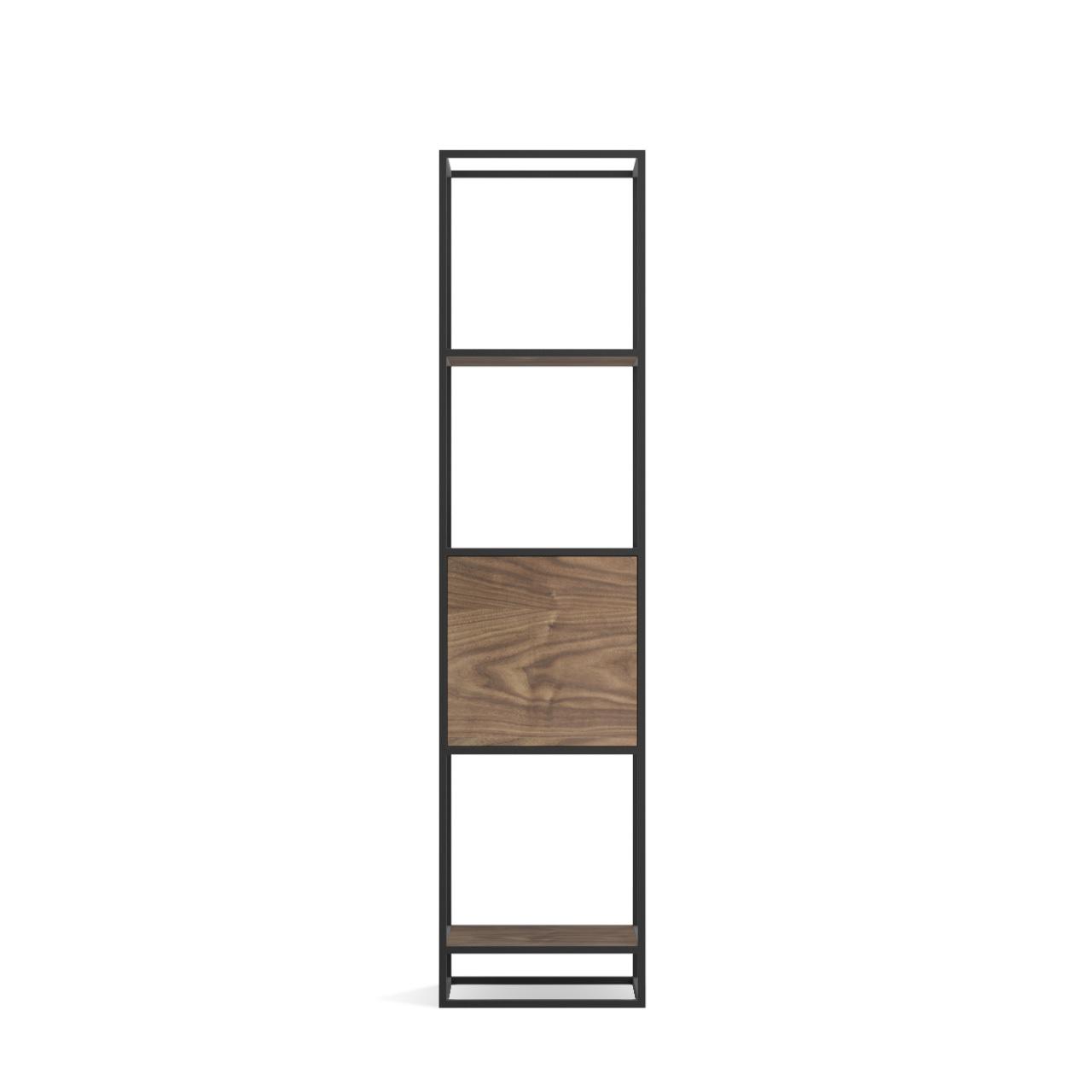 Стеллаж Intelligent design Kvadra 1, черный - вид 3