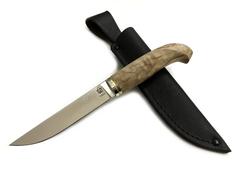 Нож Финский Пукко, N690, стабилизированная карельская береза