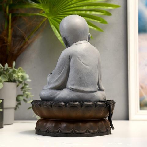 Фонтан настольный от сети, подсветка Маленький Будда
