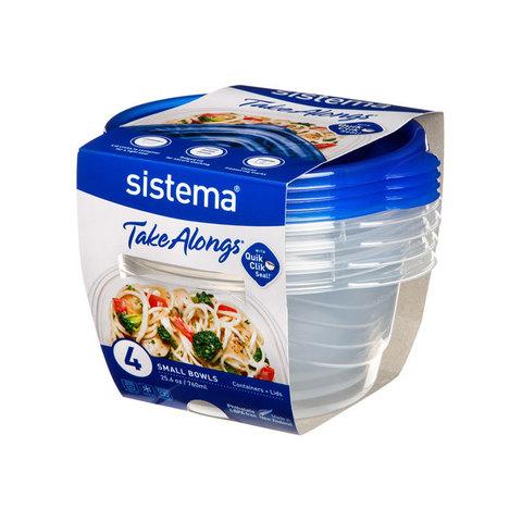 "Набор пищевых контейнеров Sistema ""TakeAlongs"" 760мл, 4шт."