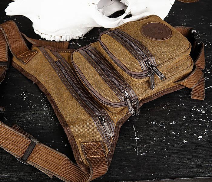 BAG505-2 Вместительная текстильная сумка на ногу фото 04