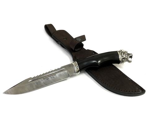 Нож Волк, дамасская сталь, граб, ручная работа