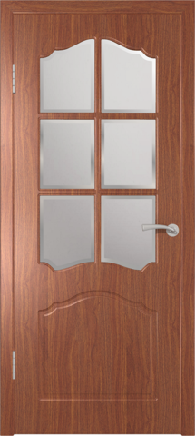 Дверь GreenLine Sigma-32, стекло дельта бронза, цвет итальянский орех, остекленная