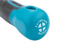 Отвертка PH2 x 100 мм, S2, трехкомпонентная ручка Gross