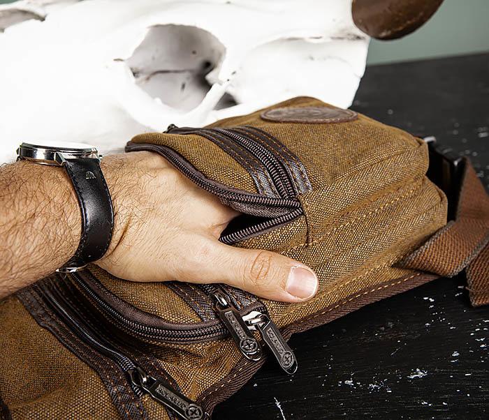 BAG505-2 Вместительная текстильная сумка на ногу фото 05