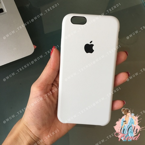 Чехол iPhone 6+/6s+ Silicone Case /white/ белый original quality