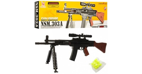 Cнайперская пневмат. винтовка-автомат с лазерным прицелом NSM.303A