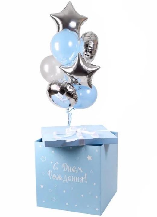 Голубая коробка-сюрприз