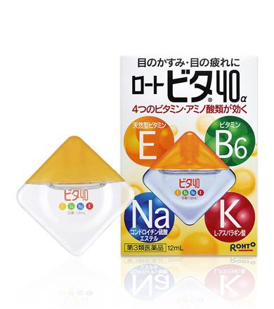 Rohto Vita 40 Alpha витаминизированные и укрепляющие капли для глаз 12мл
