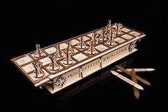 GAMESET - Настольная игра Ур и Сенет от Eco Wood Art (EWA) - Игровой набор с двумя древними настольными играми в одной коробке. Деревянный конструктор
