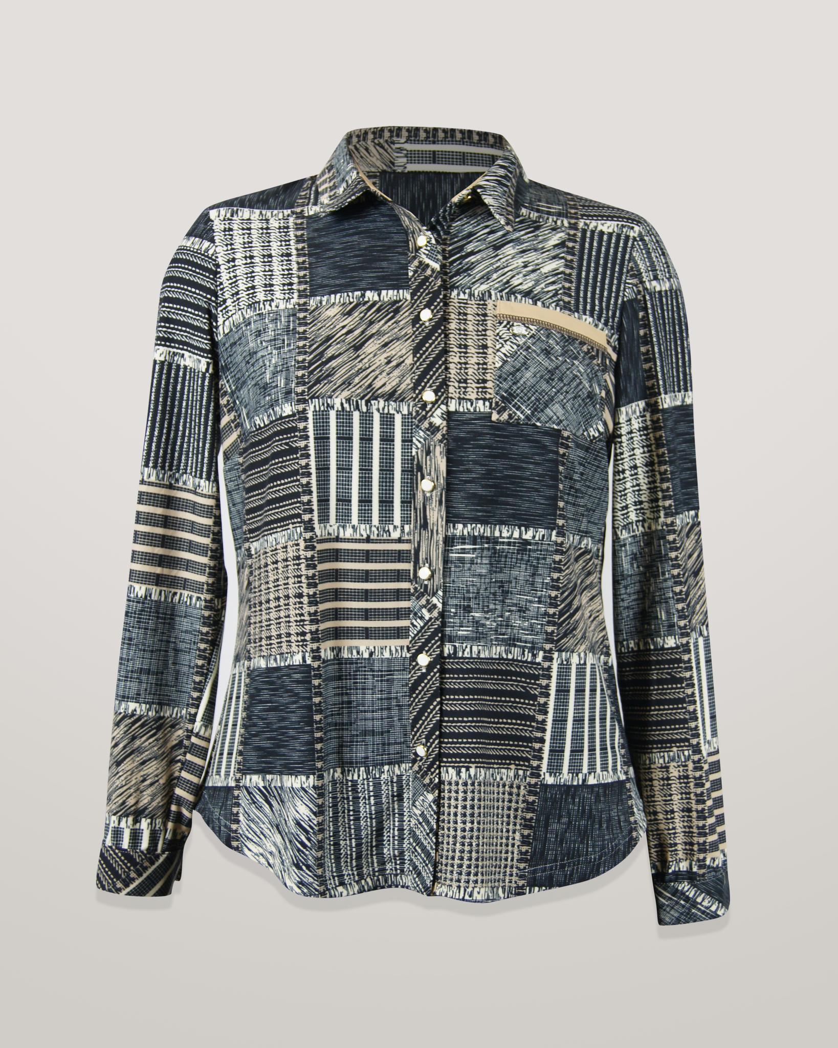 Блузка HAT рубашка карман квадраты